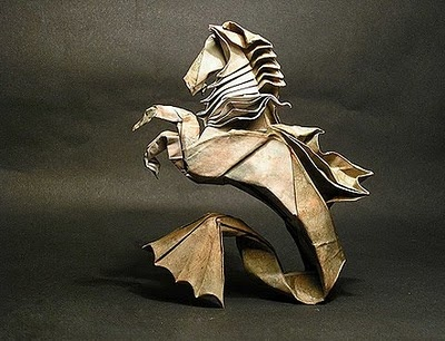 "*Paper Sculpture - ""Hippocampus"" by Ramon Diaz"
