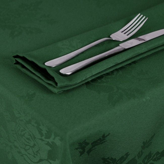 Dark Green Tablecloths English Rose Oswaldtwistle Mills Linens