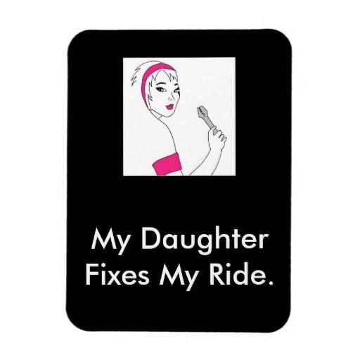 Vehicle Repair Female Mechanic Flexible Magnet available here: http://www.zazzle.ca/vehicle_repair_female_mechanic_flexible_magnet-160365234810806606?CMPN=addthis&lang=en&rf=238080002099367221 $5.75 #female #mechanic #giftfordad