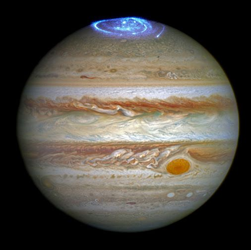 Hubble Captures Vivid Auroras in Jupiter's Atmosphere | NASA Astronomers are using the NASA/ESA Hubble Space Telescope to study auroras — stunning light shows in a planet's atmosphere — on the poles of the largest planet in the solar system, Jupiter.
