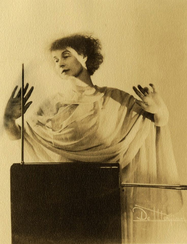 Lucie Bigelow Rosen playing the Theremin, circa 1920's