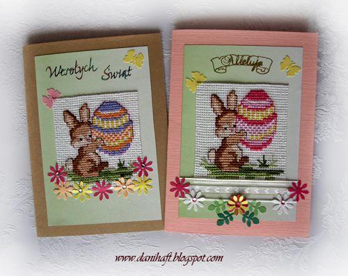 easter cards www.danihaft.blogspot.com