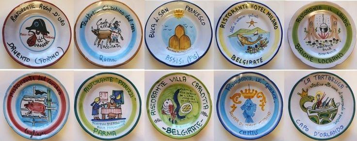Piatti del buon ricordo - anni 80 / 90 - lotto 10 piatti 32B - Piatti decorativi Ceramica Solimene Vietri - Italia di Piattidelbuonricordo su Etsy