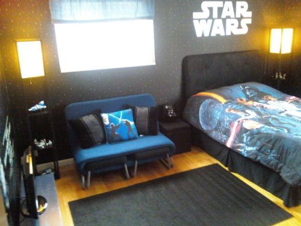 Lukes Star Wars Room, Luke kept asking for a