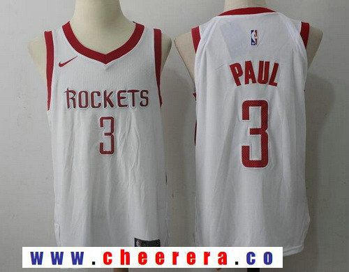Men s Houston Rockets  3 Chris Paul New White 2017-2018 Nike Swingman  Stitched NBA Jersey cb16fa400