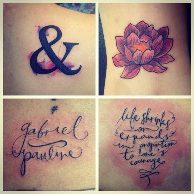 Some small things by Linda, Pink Tattoos, KL. I especially like the ampersand!