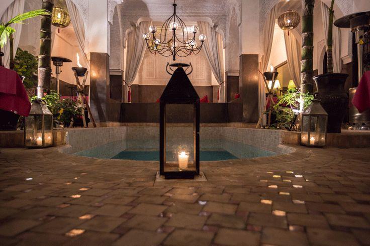 The patio of the Riad Pachavana, Marrakech