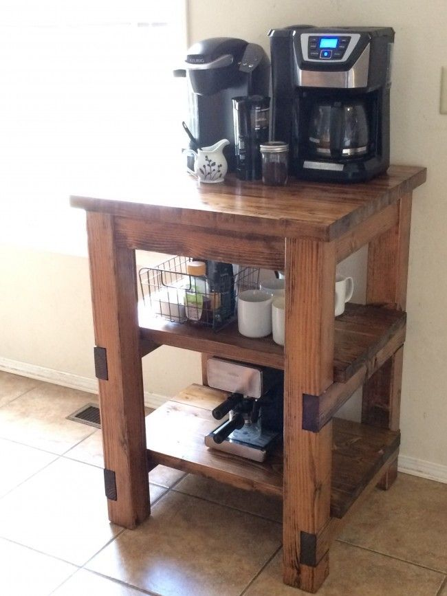 10 diy home coffee stations kitchen ideas pinterest for Kitchen ideas diy pinterest