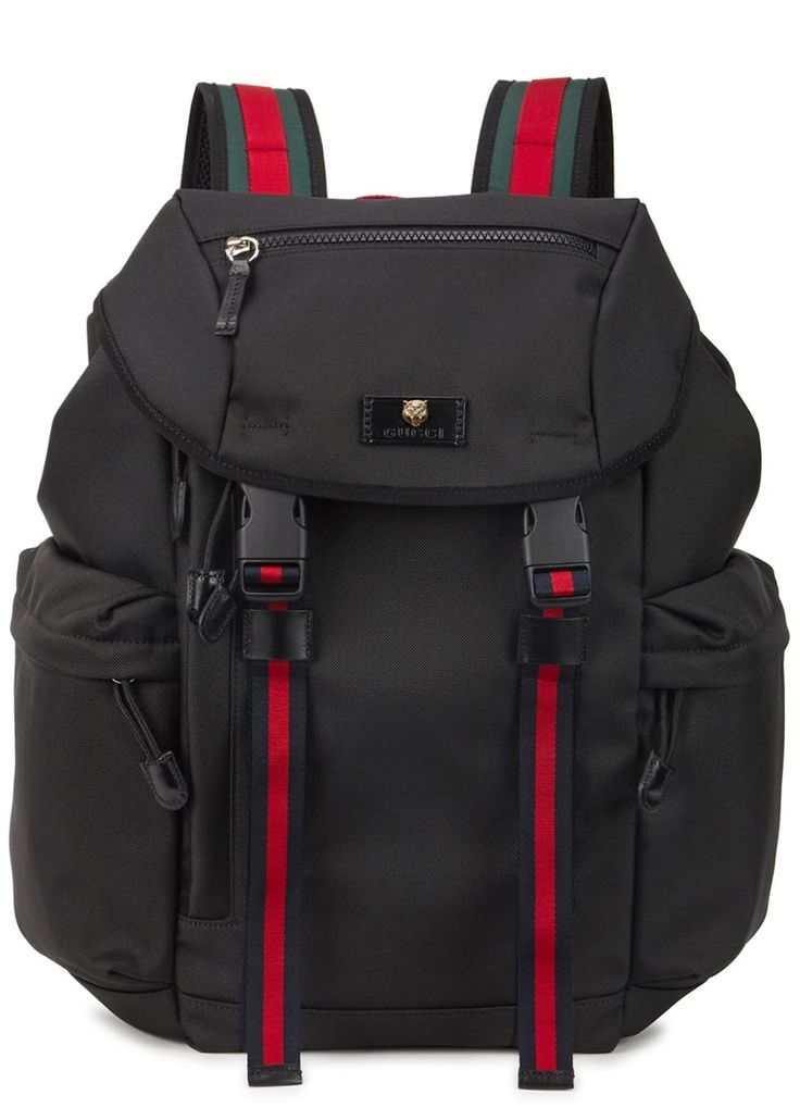 Gucci black canvas backpack