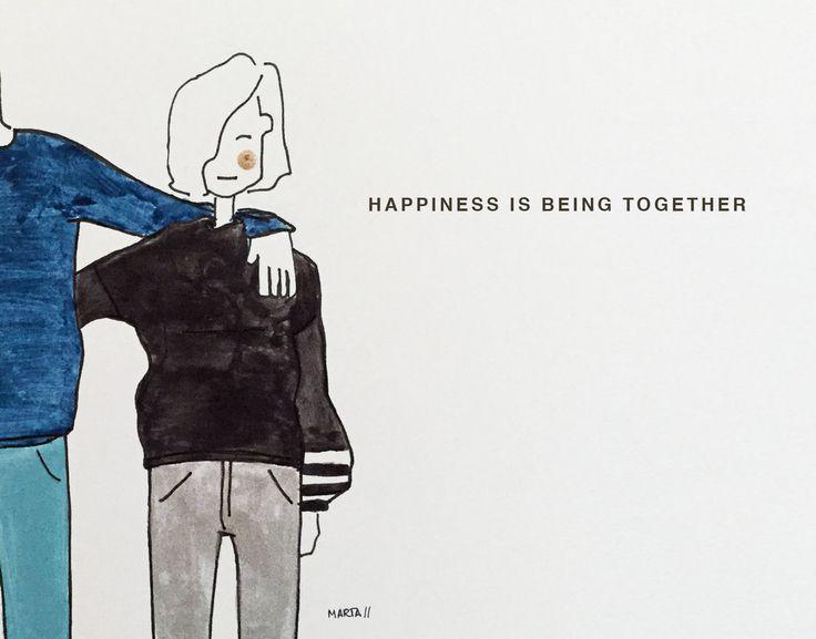 Happiness by Marta Scupelli • www.stripe-me.com