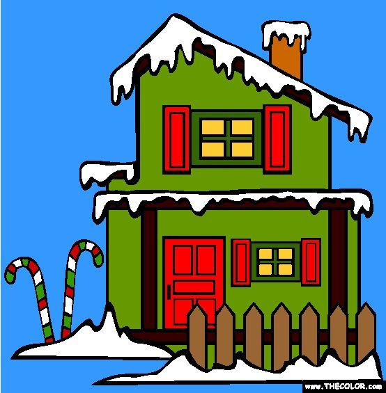 santas workshop christmas coloring pages