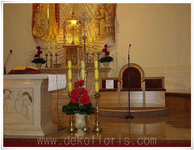 dekoracja kościoła ślub Dobrzeń Wielki