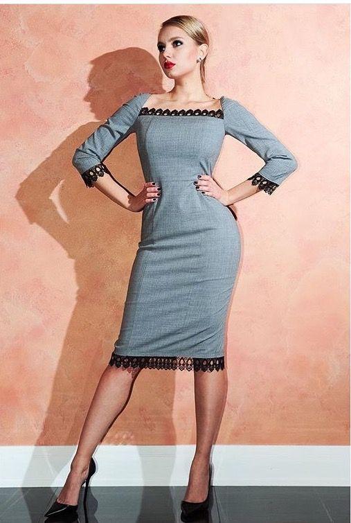 На Лизе платье с кружевной отделкой, которое подчеркнет твои ключицы ♣️ Состав: 98% шерсть, 2% эластан Доставка бесплатная  Цена 14.000₽