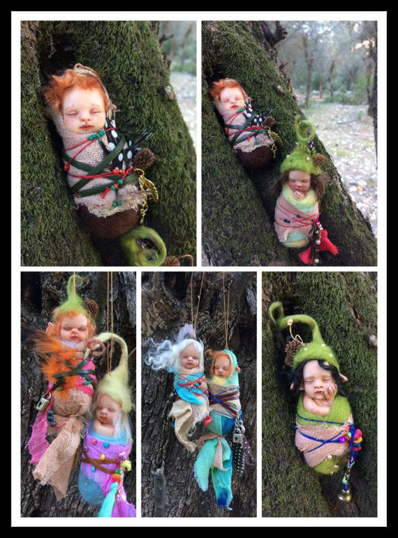 OOAK Polymer Clay Fairy Pixie Baby by AltuncuART on Etsy