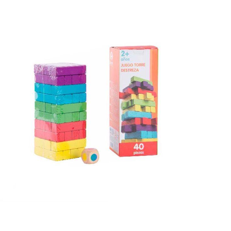 Juego torre de destreza http://www.puzzlesingenio.com/juegos-de-madera/178-jenga-colores-barcelona.html?search_query=jenga&results=4