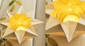 Origami facile : un photophore �toil�