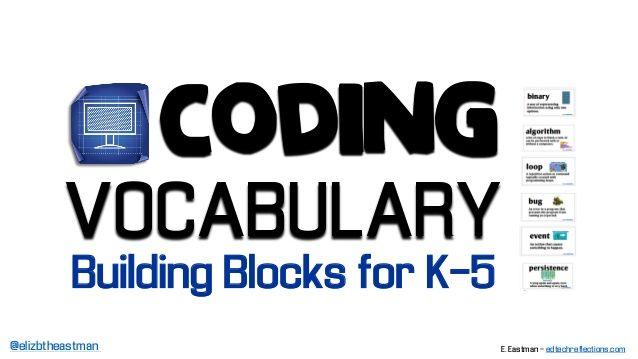 Coding Vocabulary Building Blocks