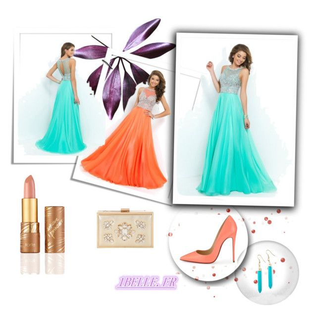 my favourite prom dress! by sophie-robelle on Polyvore featuring Christian Louboutin, Jane Norman and tarte