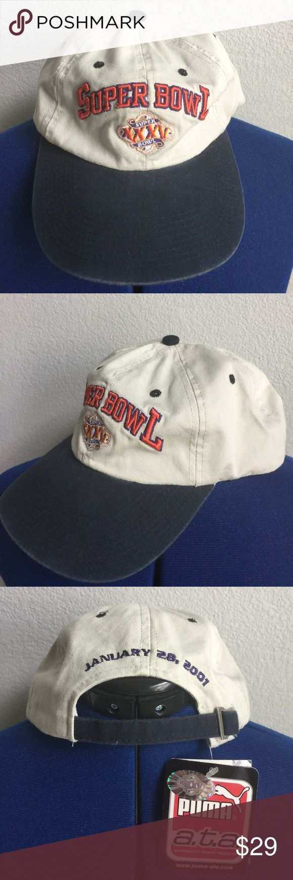 NFL Football Super Bowl Strapback SnapBack Hat 90s NFL Football Super Bowl XXXV Puma Strapback SnapBack Hat 90s | Size: OS | Condition: New with tags (Vintage condition) Puma Accessories Hats