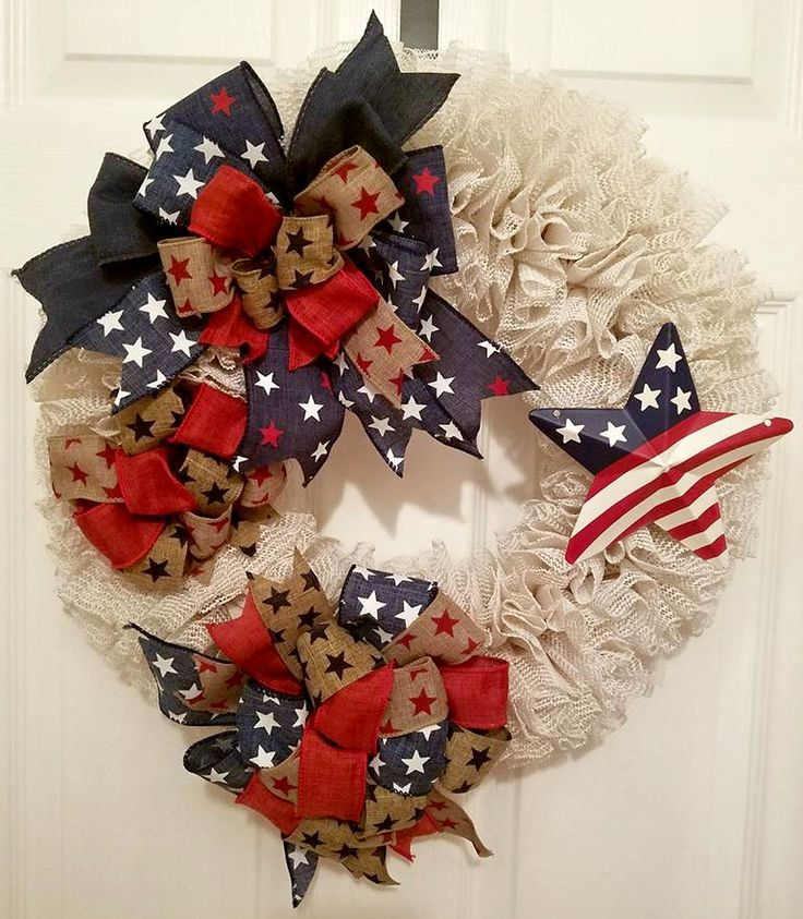 PATRIOTIC DECORATIONS; PATRIOTIC WREATH; GIFT IDEAS FOR WOMEN; GIFT IDEAS FOR HIM; COUNTRY DECOR; RUSTIC DECOR; SHABBY CHIC; OUTDOOR DECOR; HOUSEWARMING GIFT; NEW HOUSE GIFT; BIRTHDAY GIFTS; FRONT DOOR DECOR; HANDMADE GIFTS; SUMMERTIME DECOR; SUMMER HOUSE DECOR; RED WHITE AND BLUE DECORATIONS; WREATHS; Christmas Gift Ideas