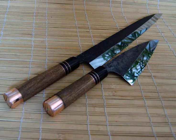 Japanese kitchen knives by TC Blades Oh man...I would die happy to just hold these.
