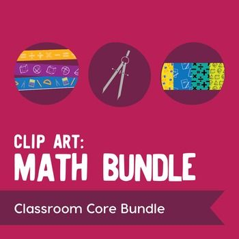 Save 20% when you purchase our math clip art bundle! This set includes our  Math Images, Basic Operations, Shapes, & Tools; 30 Math Borders; and 30 Math Papers.Heres what you get: 12 original color and black/white illustrations (24 images total).  Graphics are 300 dpi for clear, high-res printing and are PNG files with transparent backgrounds.