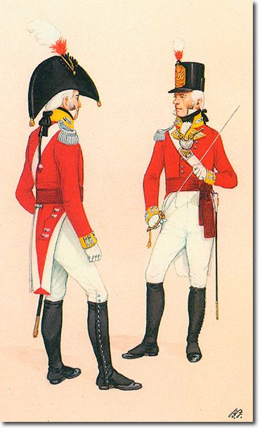 THE CAMERONIANS (Scottish Rifles) OFICIALES - 1802. Más en www.elgrancapitan.org/foro