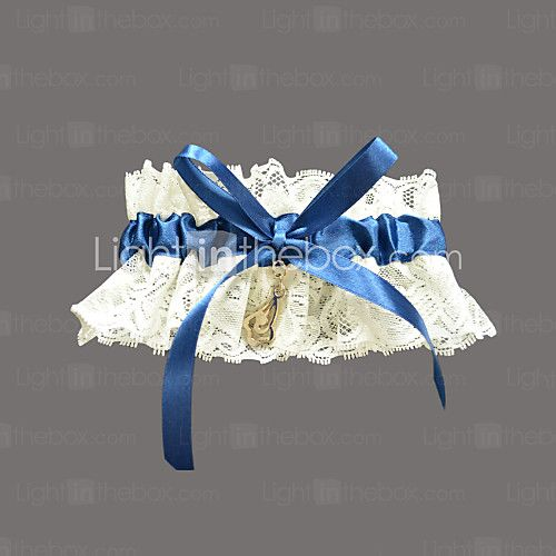 Lovely Lace/Satin With Rhinestone Wedding Garter - USD $4.99