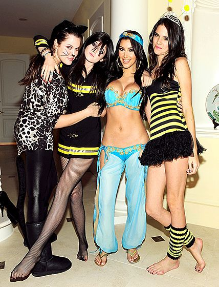 Kim and Khloe Kardashian, and Kendall and Kylie Jenner (2009)