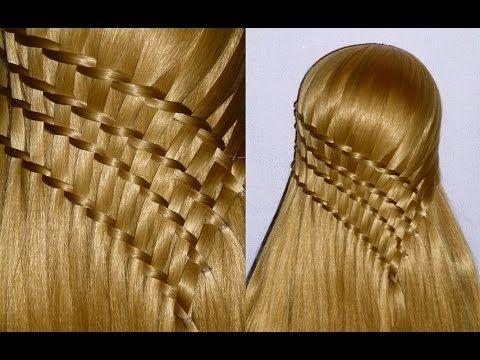 Французская коса-Оригинальная. Причёска для средних, длинных волос.Причёски для девочек в школу - YouTube