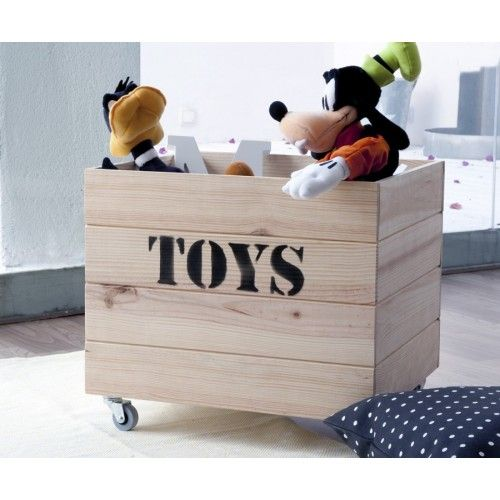 Toys contenedor madera