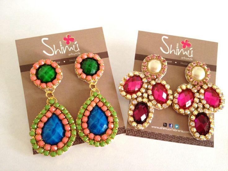 Maxi zarcillos / maxi earrings Handmade