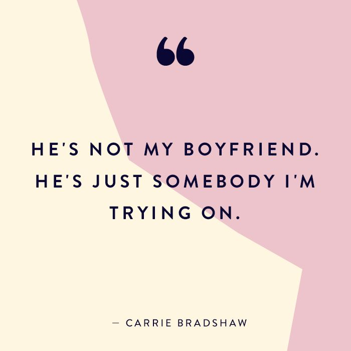 We're Still Not Over All the Things Carrie Bradshaw Said in the '90s via @MyDomaine