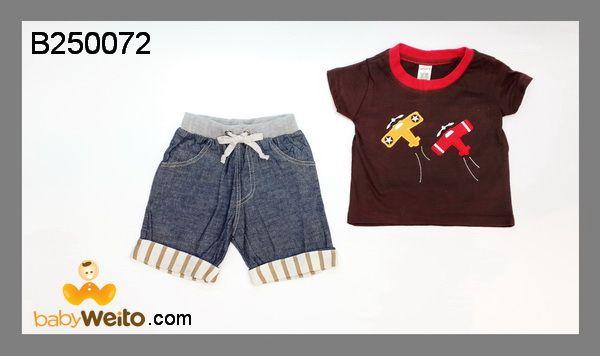 B250072  Baju Setelan Boy Plane  Bahan halus dan lembut  Warna sesuai gambar  IDR 120*
