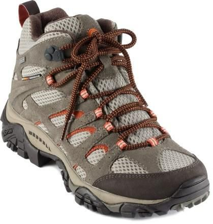 Stay cool and comfortable when hitting the trail with these vented Merrell hiking boots.