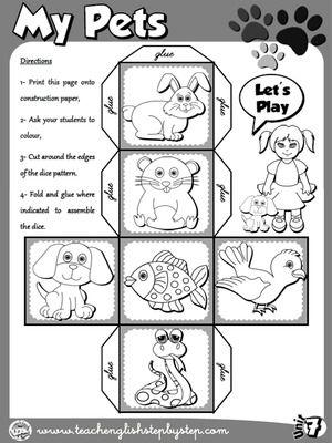 My Pets - Dice 2 (B&W version)