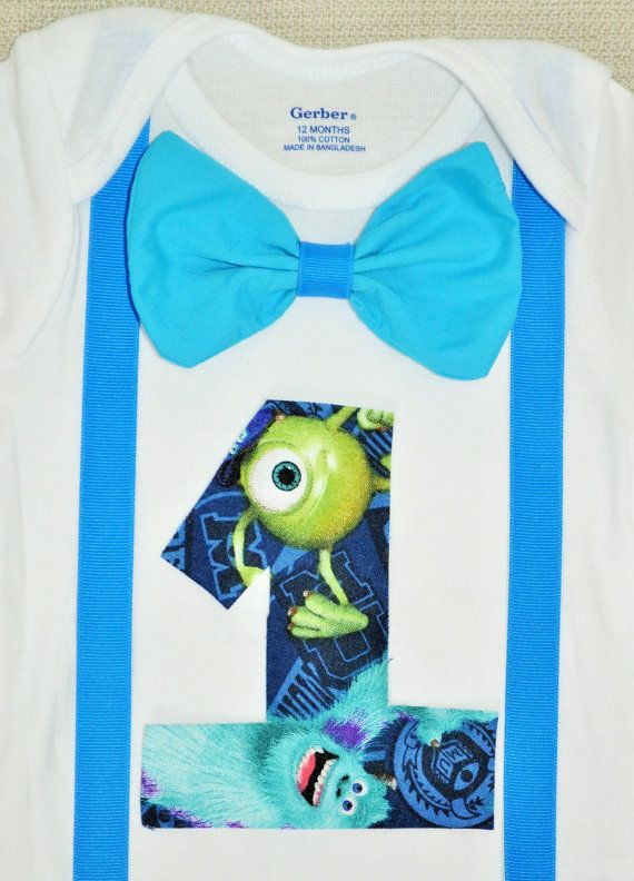 Rylo monsters Inc shirt Monsters Inc birthday onesie by RYLOwear