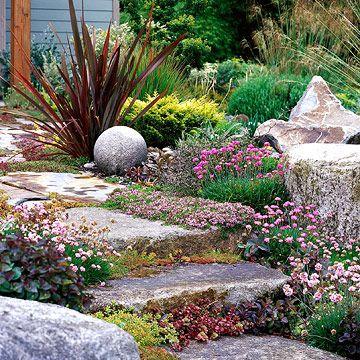 Drought Tolerant Garden Designs serene drought resistant backyard california drought sacramento drought gravel landscapinggravel gardenlandscaping Drought Tolerant Slope Garden Plan