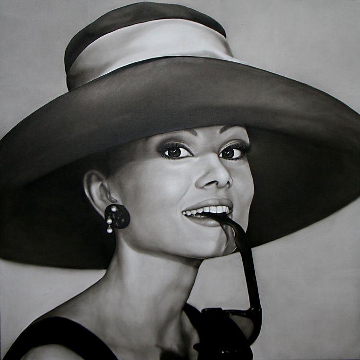 Portret van Audrey Hepburn met de ogen van de opdrachtgeefster! 150/150 olieverf op linnendoek | Voor meer werk in opdracht: http://saskiavugts.nl/portret-in-opdracht/ #portretopdracht #olieverfportret #olieverfschilderij #portraitpainting #oilpainting #kunst #art #pastelart #portraitart #famouspeople #actor #actress #portretschilder