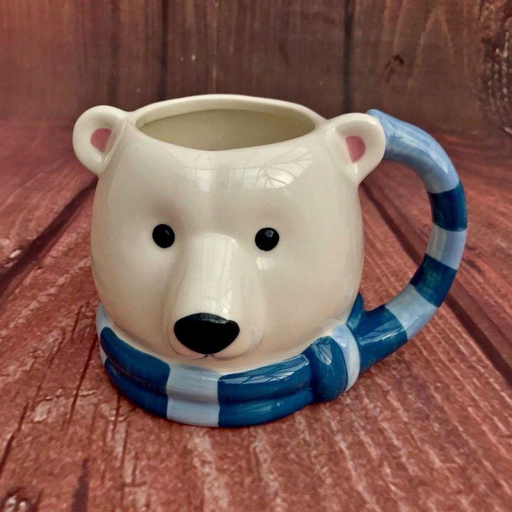 Polor Bear Mug Cup Barrel Tea Coffee Hot Chocolate Drinking Dish Washer Safe New