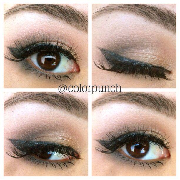 Instagram: @colorpunch  Shimmery soft smokey eye  Eyeshadow for Asian eyes. Brown eyes, Asian eyeshadow, eyeshadow for brown eyes, eyeshadow ideas, colorful eyeshadow, makeup ideas.