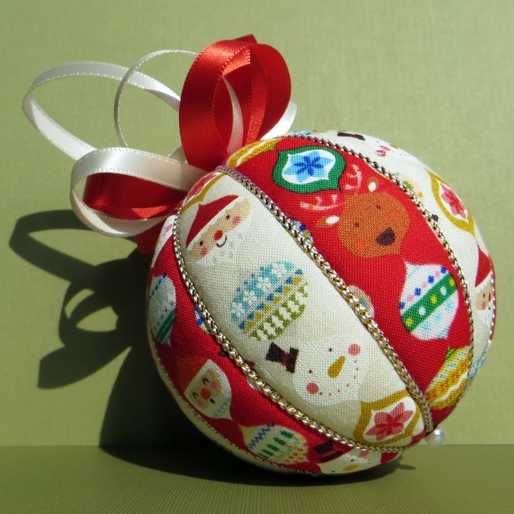 Christmas Ornament - Nordic Christmas Stripes by OrnamentDesigns on Etsy