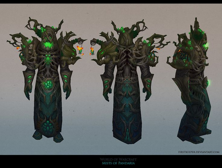MoP Druid Hunted Forest armor by FirstKeeper.deviantart.com on @deviantART