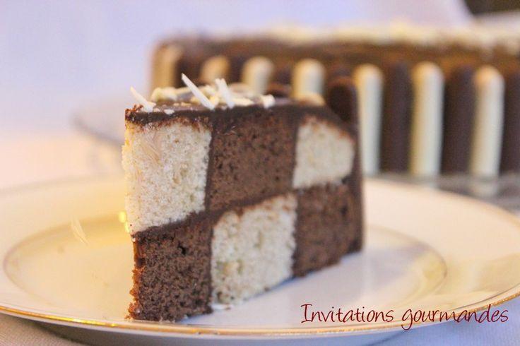 Damier chocolat vanille. +