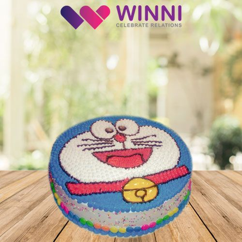 Your lovely kids would simply fall in love with this amazing  Doraemon #cake. It is just too cute to handle. Order this delicious cake from #Winni for their birthday party.