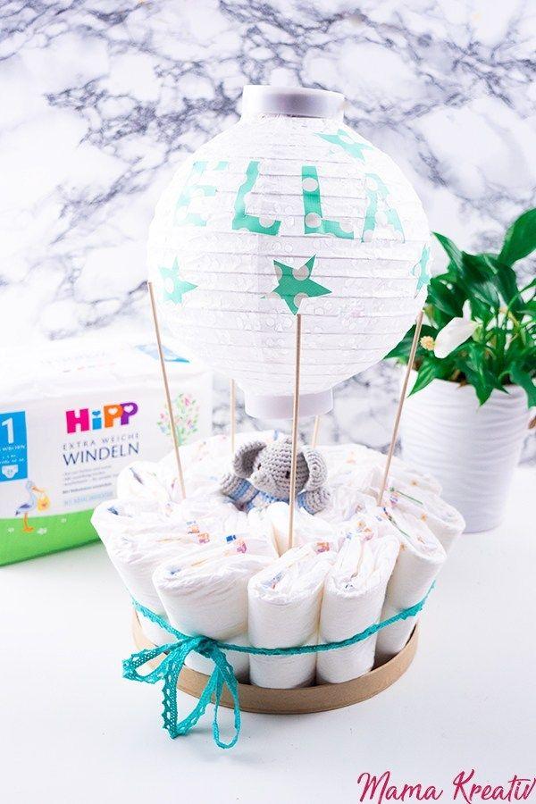 Heisslufballon Windeltorte Anleitung Einfach Und Schnell Windeltorten Anleitung Windeltorte Selber Machen Windeltorte