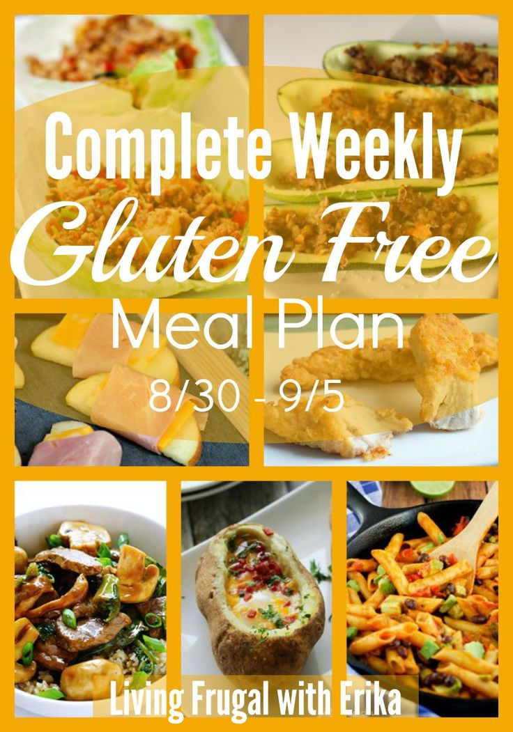 This Complete Weekly Gluten Free Meal Plan makes it easy for Gluten Free families to get their menu together and take a little bit of stress off of you.