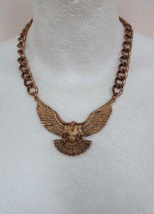 Kaufe meinen Artikel bei #Kleiderkreisel http://www.kleiderkreisel.de/accessoires/ketten-and-anhanger/121974202-goldene-statementkette-mit-adler