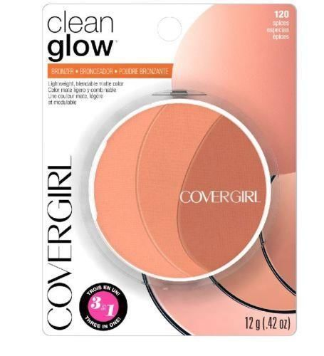 """Cover Girl Clean Glow 3 in 1 Bronzer #120 """"Spices"""" #CoverGirl"""