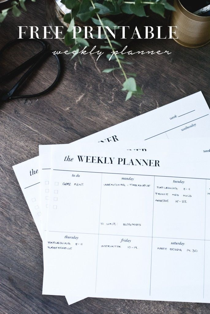 Best 25+ Weekly planner printable ideas on Pinterest Weekly - free printable weekly planner